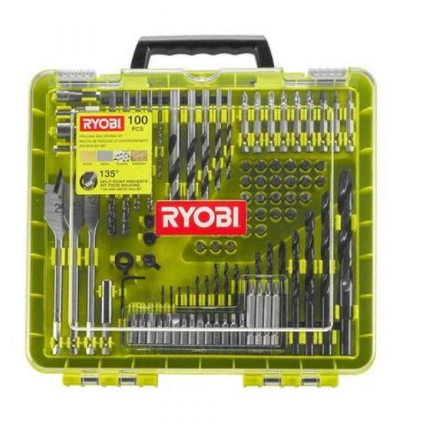 Ryobi RAKDD100 - 100ks sada vrtacích a šroubovacích bitů