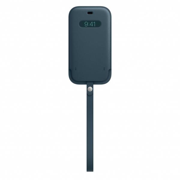 Apple kožený návlek s MagSafe na iPhone 12 / 12 Pro baltsky modrý