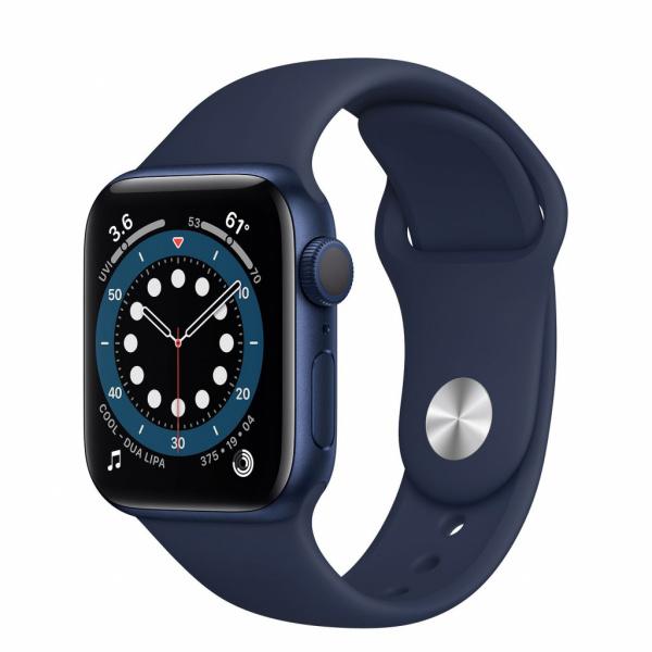 Apple Watch Series 6 40mm modrý hliník s námořnicky tmavomodrým sportovním řemínkem