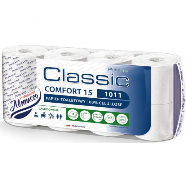 Almusso toaletní papír Comfort 15. bílý. 3 vrstvý. 8ks. celulóza