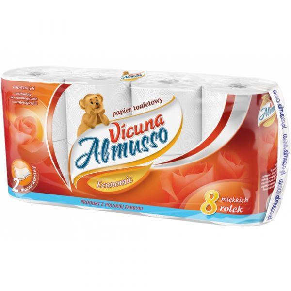 Almusso toaletní papír VICUNA, bílý, 2 vrstvý, 8ks, celulóza, 16m