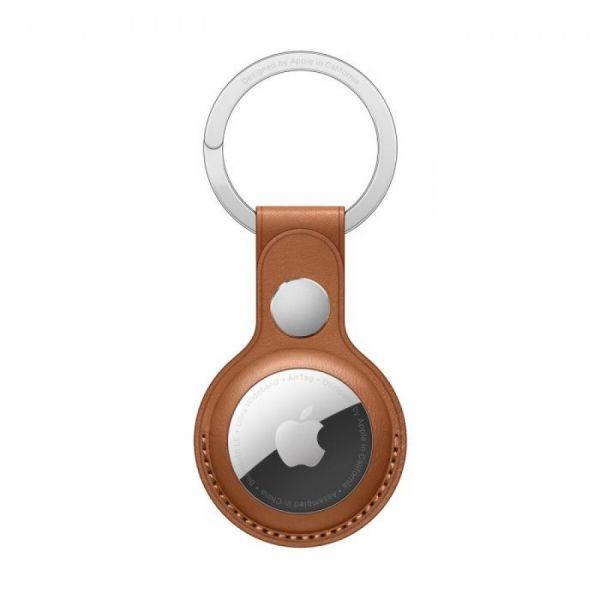 Apple AirTag kožená klíčenka sedlově hnědá