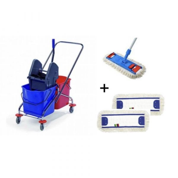 Bohman - ÚKLIDOVÝ SET 3 - 1 x úklidový vozík, 1 x set mopu, 2 x návlek