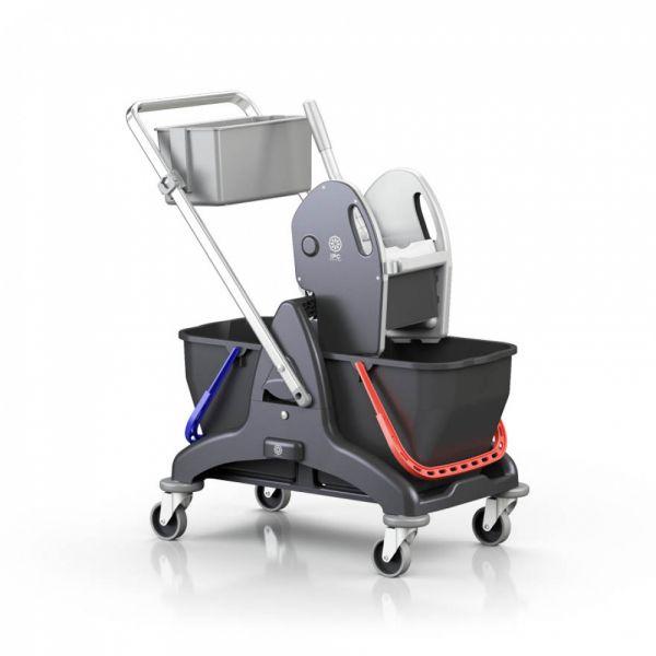 Úklidový vozík BIS Black is Green 2x15lt včetně ždímače, košíku