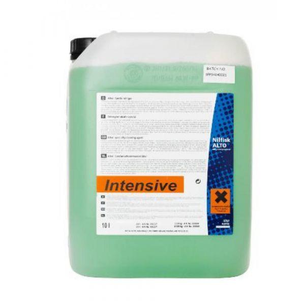 INTENSIVE SV1 10 l - Tekutý. silně alkalický. mírně pěnivý čisticí prostředek určený na odstraňování olejů