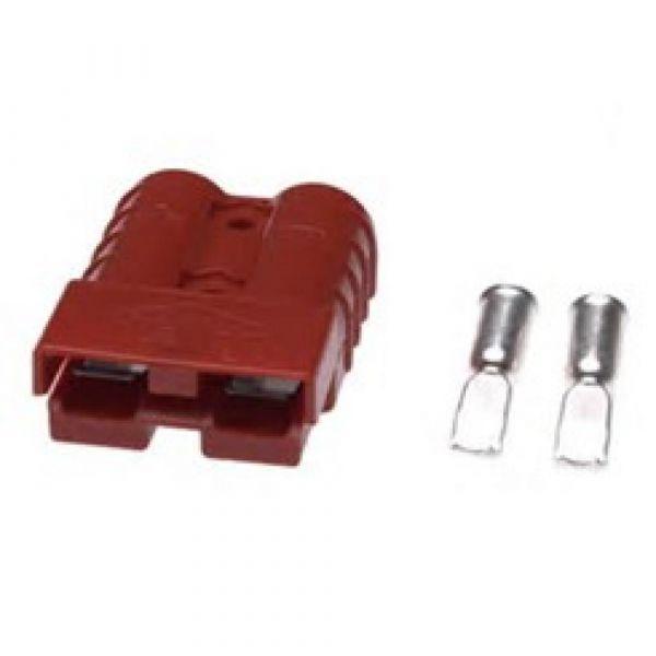 Konektor CB 50A 47.6 x 15.9mm červený