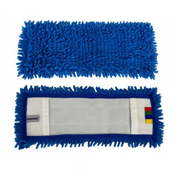 Mopman žinylkový deskový mop kapsový modrý pro držák 40 cm