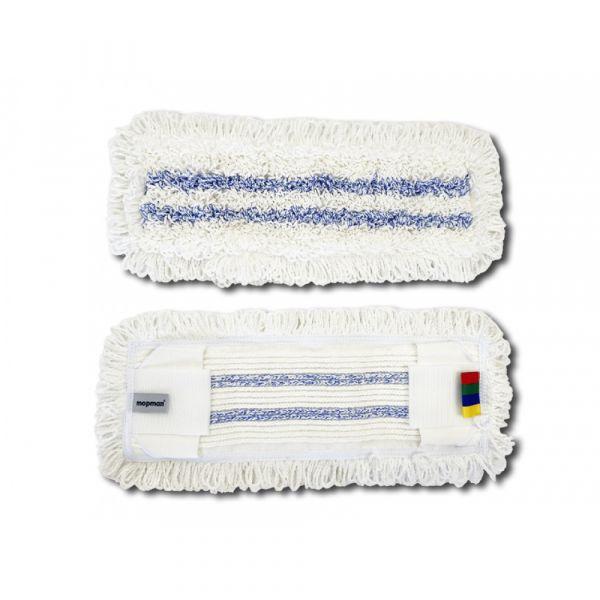 Mopman všívaný mop z mikrovlákna Hospital+ kapsový s jazyky pro držák 50 cm