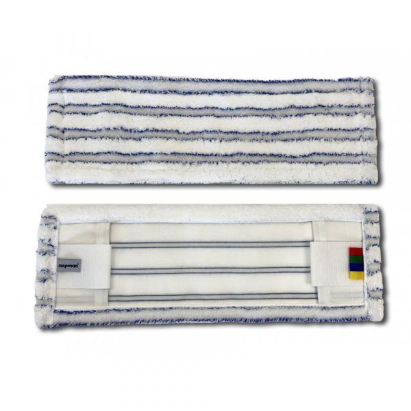 Mopman STRIP mop z mikrovlákna s modrými abrasivními pruhy pro držák 50 cm 75 ks