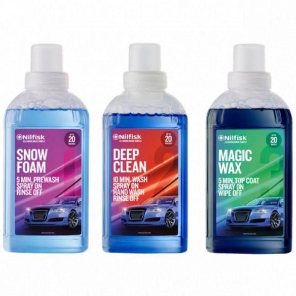 Nilfisk sada detergentů (snowform+deepclean+magicwax)