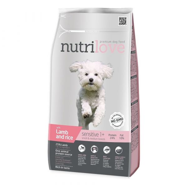 Nutrilove granule pes Sensitive S.Breed jehněčí 1.6kg