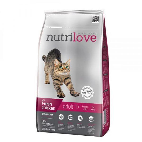 Nutrilove granule pro kočky Adult s čerstvým kuřecím 1.5 kg