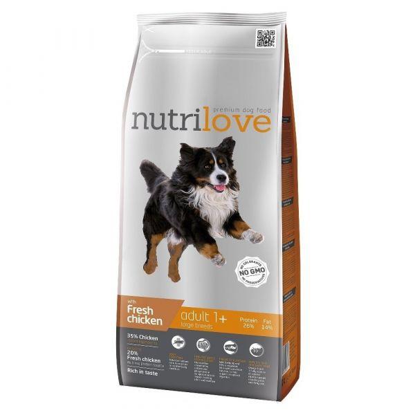 Nutrilove granule pro psy Adult L s čerstvým kuřecím 3 kg
