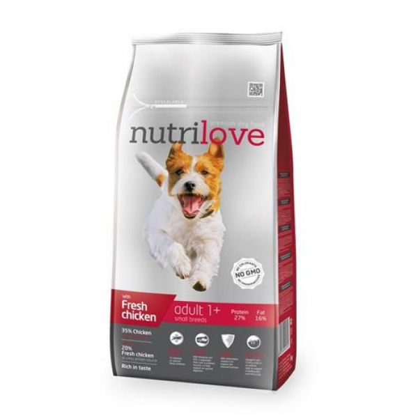 Nutrilove granule pro psy Adult S s čerstvým kuřecím 1.6 kg