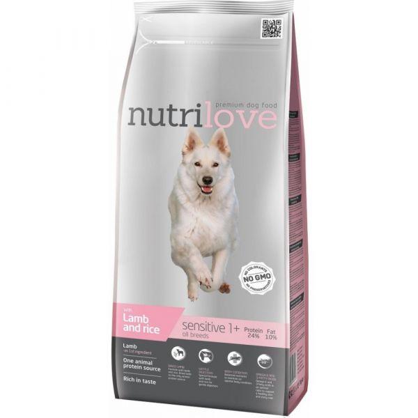 Nutrilove granule pro psy Sensitive s jehněčím 3 kg