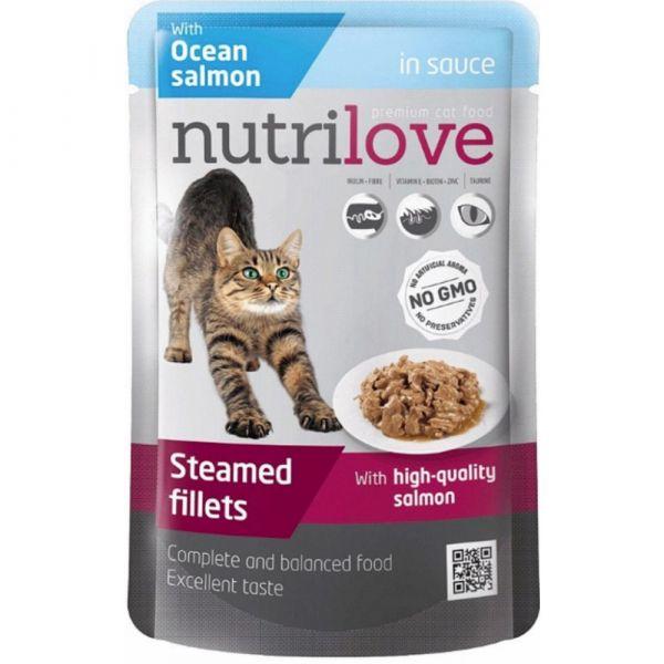 Nutrilove kapsička pro kočky s lososem v omáčce 85 g