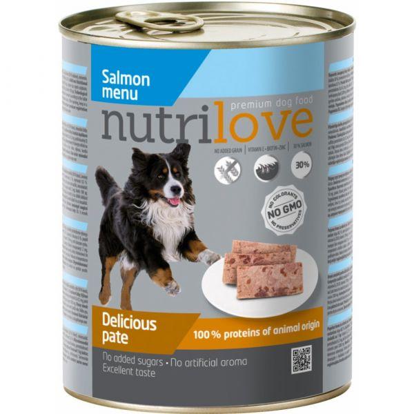 Nutrilove paté pro psy losos 800 g