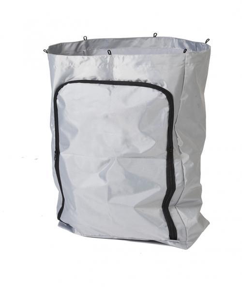 Odpadní vak šedý se zipem 120 litrů