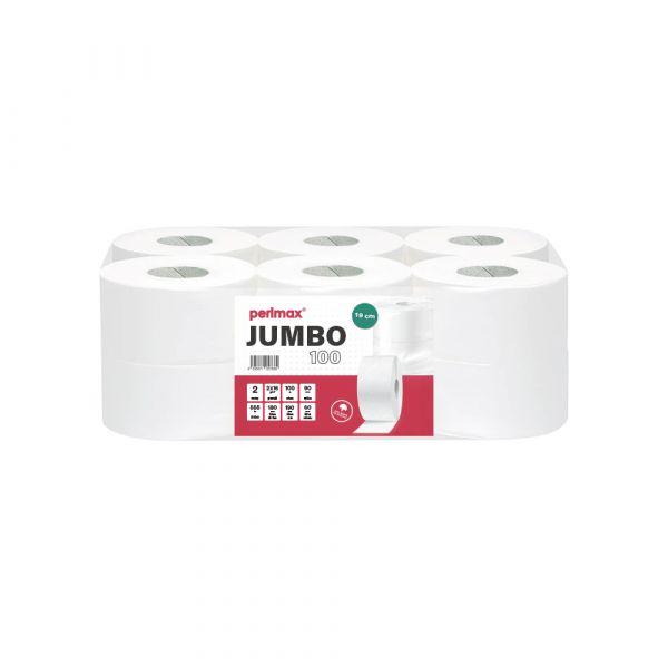 Perlmax toaletní papír v roli Jumbo 19cm. 2 vrstvý, celulóza, 12ks