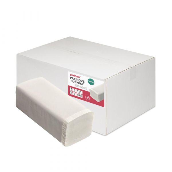 Perlmax Z-Z. 1 vrstvý. bílý. celulóza. 4000ks