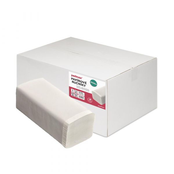 Perlmax Z-Z. 2 vrstvý. bílý. celulóza. 3000ks