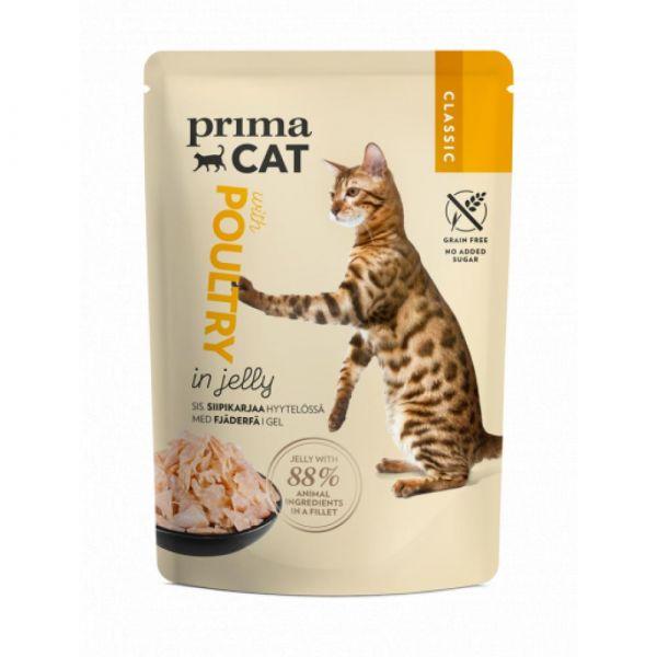 PrimaCat Kapsička. Filety s drůbeží v želé. 85g