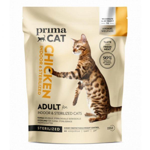 PrimaCat Kuře pro dospělé kočky. kastrované a žijící uvnitř  400 g