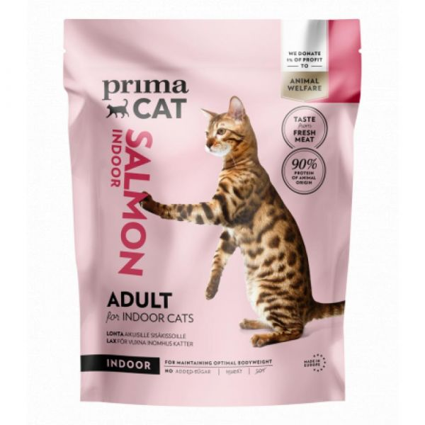 PrimaCat Losos pro dospělé kočky žijící uvnitř 1.4 kg