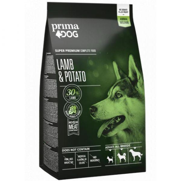 PrimaDog Jehněčí s bramborami pro dospělé psy všech plemen. 12 kg