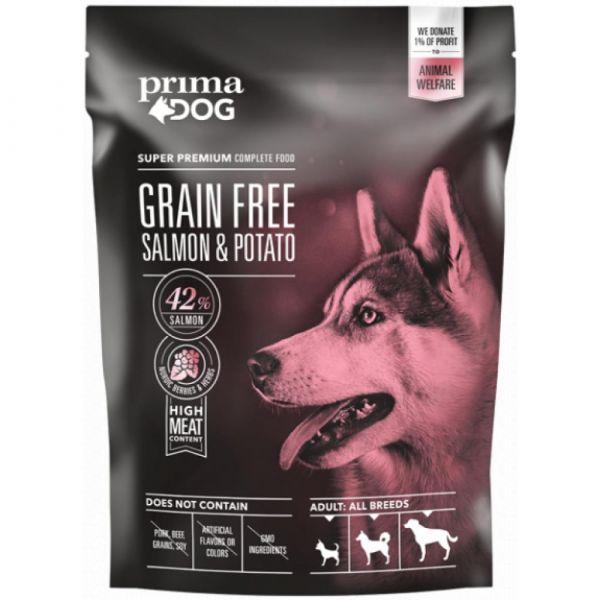 PrimaDog Losos s bramborami bez obilovin. pro dospělé psy s citlivým trávením. 10 kg