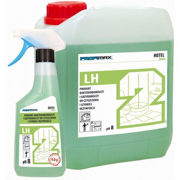 PROFIMAX LH 2 - Biocidní a fungicidní produkt k rychlé desinfekci a čištění - PRODUKT PRO PŘÍMÉ POUŽITÍ 0.5 litru