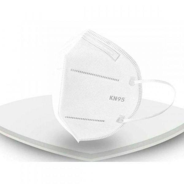 Respirační obličejová maska KN95 FFP 2 - respirátor skládaný FFP2 bez výdechového ventilu SKLADEM