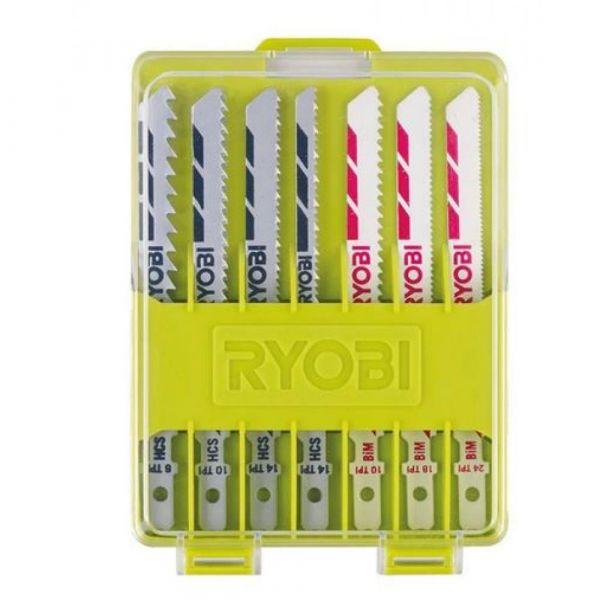 Ryobi RAK10JSB - 10ks sada pilových plátku do přímočaré pily