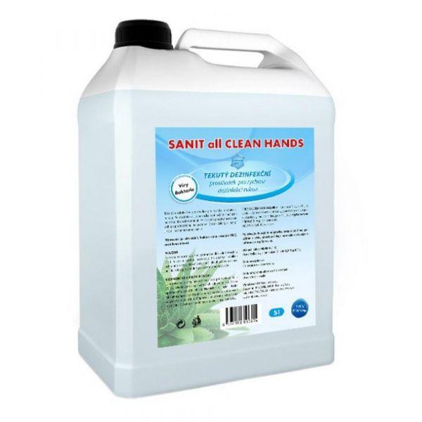 SANIT all CLEAN HANDS dezinfekční prostředek na ruce