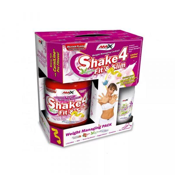 Amix Shake 4 Fit&Slim 1000g chocolate BOX + Free L-Carnitine 480ml