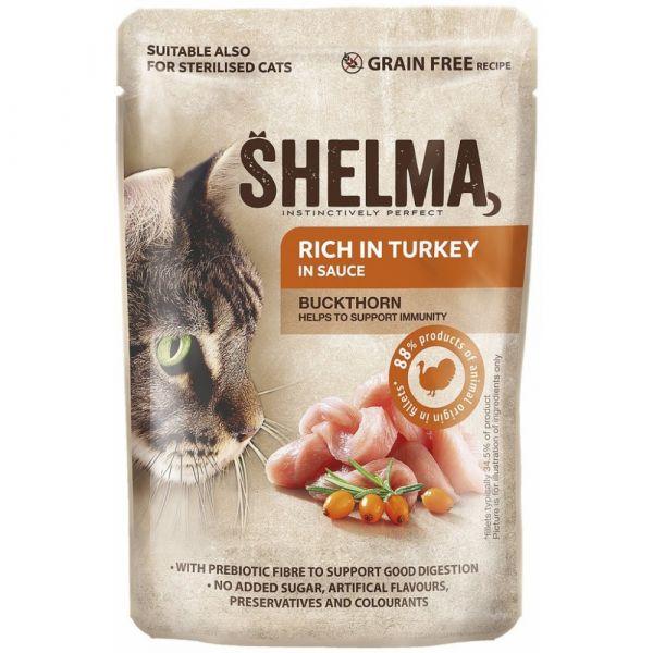 Shelma kapsa kočka s krůtím a rakytníkem v omáčce 85g