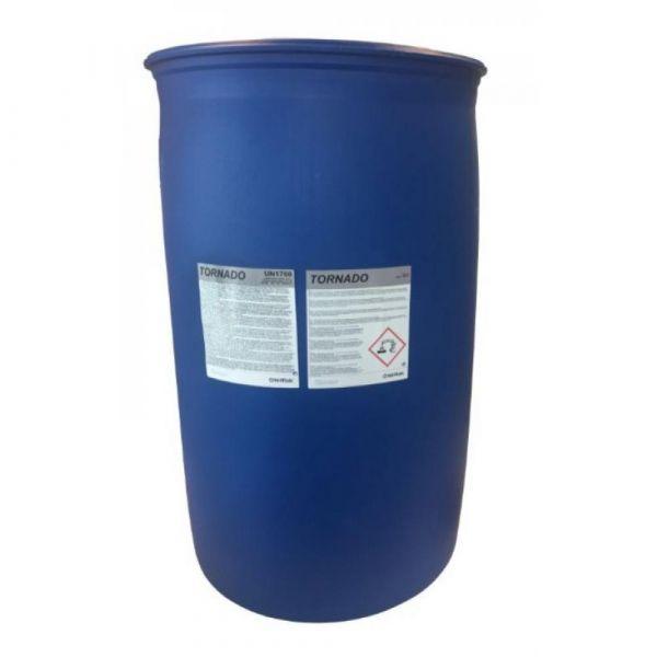 TORNADO SV1 220 kg - Tekutý. silně alkalický. mírně pěnivý čisticí prostředek účinný proti silně ulpělým mastným nečistotám